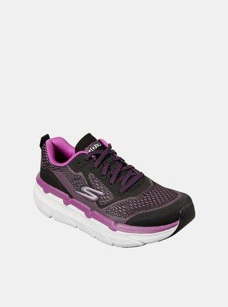 Skechers černo-růžové tenisky na platformě Max Cushioning Premier