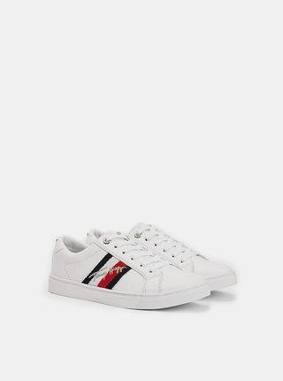 Tommy Hilfiger biele tenisky TH Signature Cupsole Sneaker White