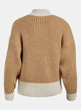 Hnědý vlněný svetr .OBJECT Sana