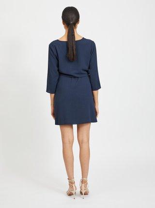 Modré šaty se zavazováním VILA Lovie