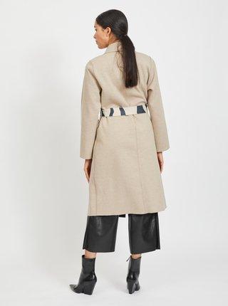Béžový kabát na zavazování VILA Juice