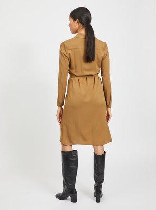 Hnědé košilové šaty VILA