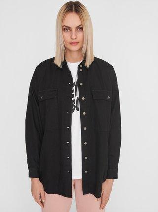 Čierna rifľová košeľa Noisy May Flanny