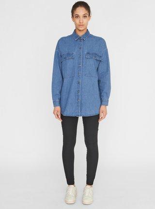 Modrá džínová košile Noisy May Flanny