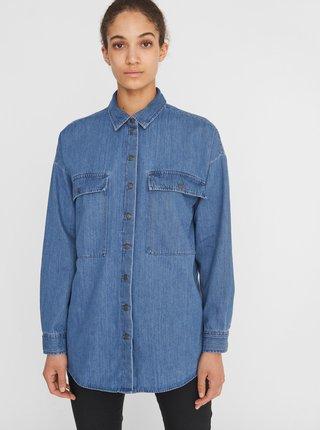 Modrá rifľová košeľa Noisy May Flanny