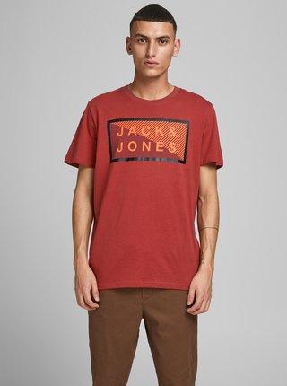 Červené tričko s potiskem Jack & Jones Shawn