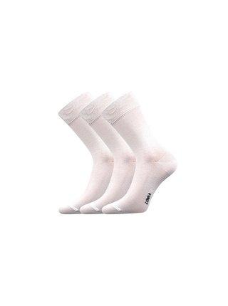 3PACK ponožky Lonka bambusové bílé
