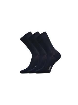 3PACK ponožky Lonka bambusové tmavě modré