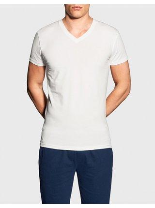 Pánské tričko Gant V neck bílé