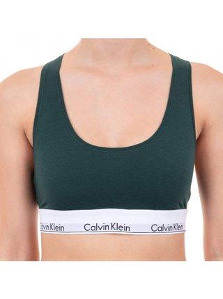 Dámská podprsenka Calvin Klein tmavě zelená