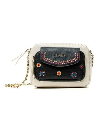Desigual béžová crossbody kabelka Bols Cristal Moon Cambridge Mini