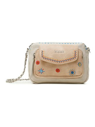 Desigual smetanová crossbody kabelka Bols Cristal Moon Cambridge Mini