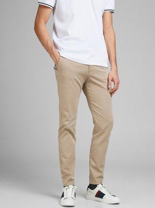 Béžové nohavice Jack & Jones Marco