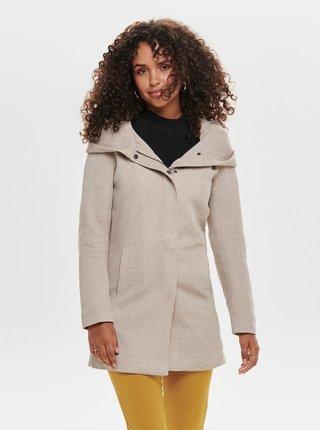 Béžový kabát s kapucou ONLY Sedona