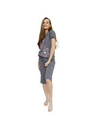Dámské středně dlouhé pyžamo Molvy šedé
