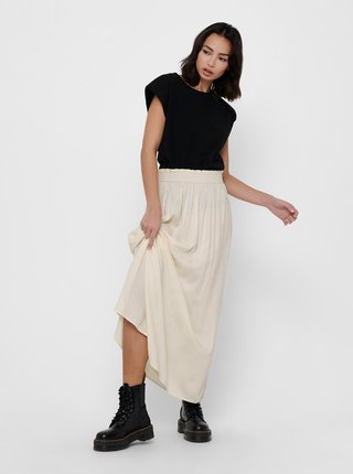 Krémová maxi sukňa ONLY Venedig