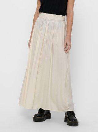 Krémová maxi sukně ONLY Venedig