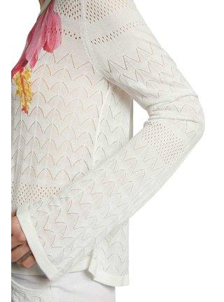Desigual bílý svetr Jers Albury