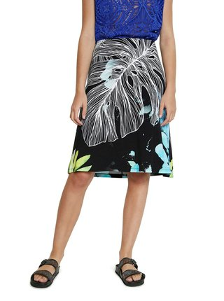 Desigual barevná sukně Fal Leaves
