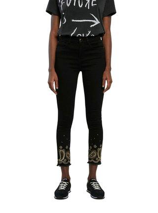 Desigual čierne džínsy Denim Belgica
