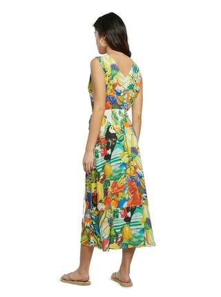 Desigual farebné letné šaty Vest Ibiza