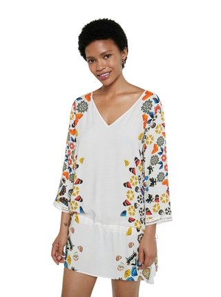 Desigual bílé šaty Top Maui