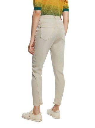Desigual smetanové kalhoty Pant Kim