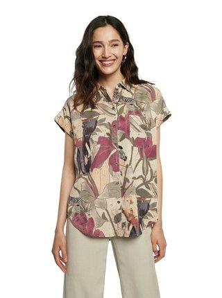 Desigual farebné voľná košeľa Cam Etnican