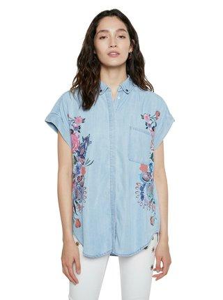 Desigual modré košeľa Cam Sullivan
