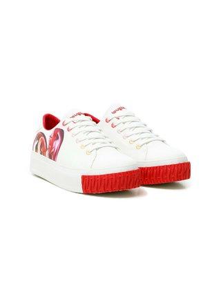 Desigual bílé tenisky na platformě Shoes Street Heart