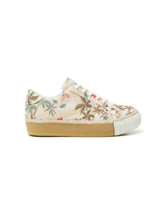 Desigual béžové tenisky Shoes Street Camoflowers