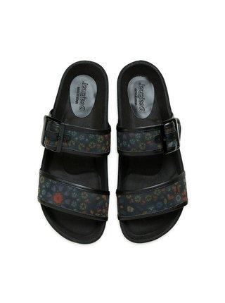 Desigual černé pantofle Shoes Aries Butterfly