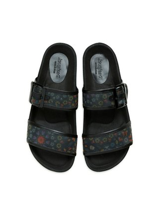 Desigual čierne šľapky Shoes Aries Butterfly