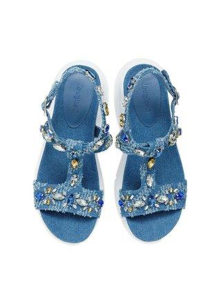 Desigual modré sandále Shoes Yuniker Denim