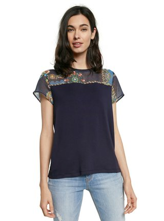 Desigual modré tričko TS Viena