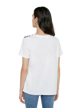 Desigual bílé tričko TS Budapest