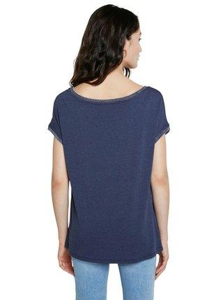 Desigual modré tričko TS Copenhague