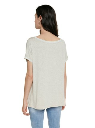 Desigual béžové tričko TS Copenhague