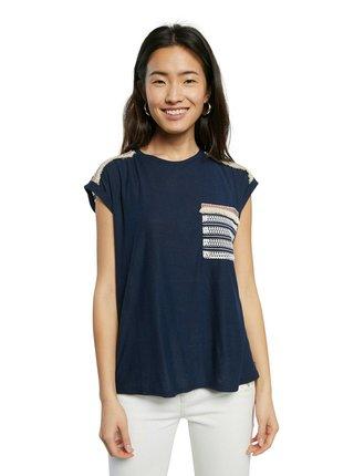 Desigual modré tričko TS Dublin