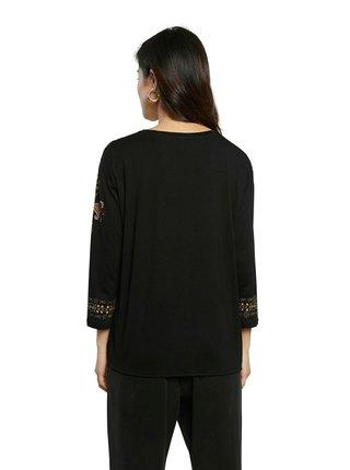 Desigual čierne tričko TS Oporto