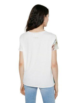 Desigual smetanové/krémové tričko TS Edimburgo