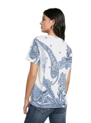 Desigual biele tričko TS Popasley
