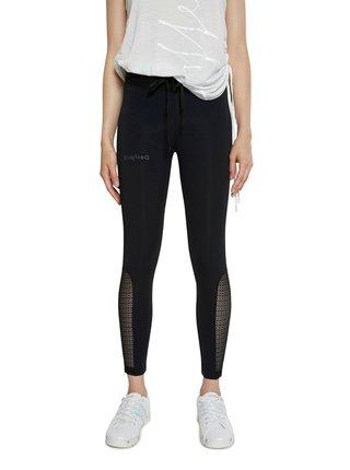Desigual černé sportovní legíny Legging Desagujado