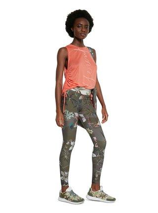 Desigual barevné sportovní legíny Legging Camoflower