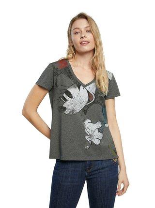 Desigual sivé tričko TS Minnie