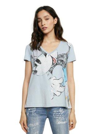 Desigual modré tričko TS Minnie