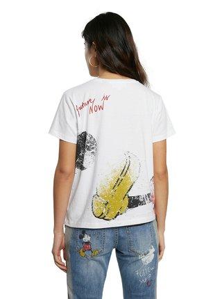 Desigual bílé tričko TS Ok Mickey