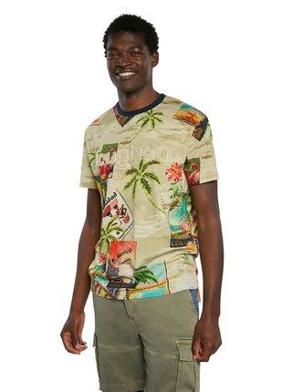 Desigual farebné pánske tričko TS Caton