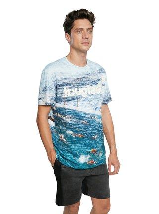 Desigual modré pánske tričko TS Canio