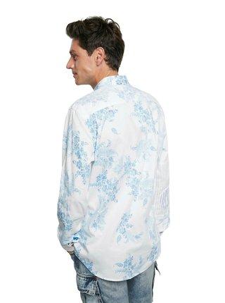 Desigual bílá pánská košile Cam Alberico
